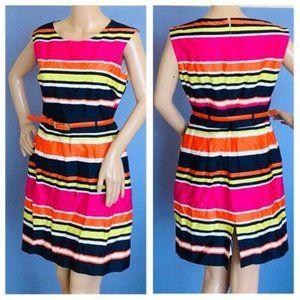 Multi colored Tahari striped dress size 8
